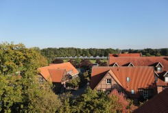 Blick vom Hoteldach auf den Hof Grothues-Potthoff
