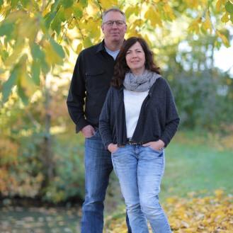 Ehepaar Küper im Garten