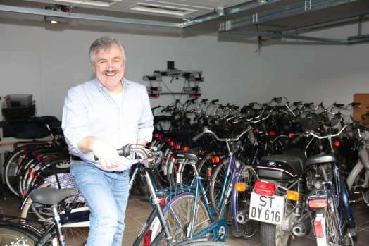 Leihräder im Schuppen