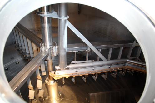 Das Innere eines Läuter-Bottichs