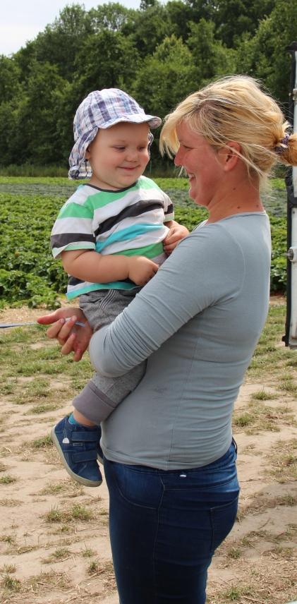 Spaß garantiert: Leon mit Mathilde