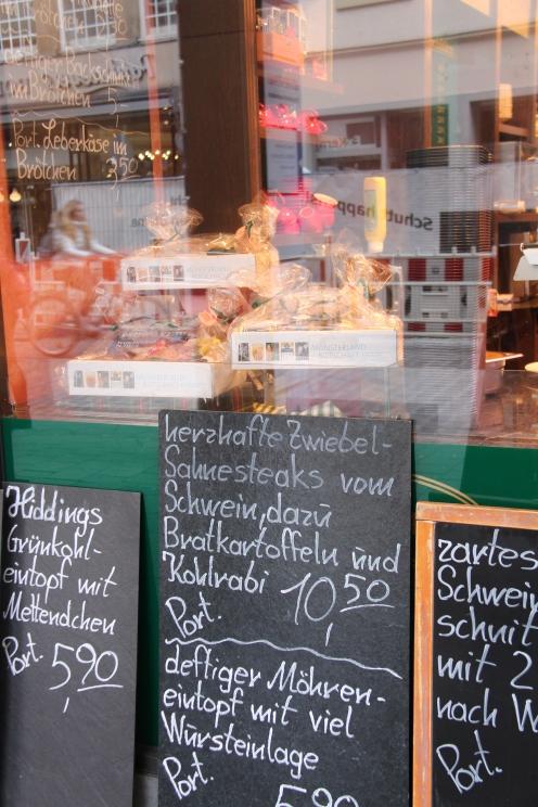 Im Geschäft an der Rothenburg gibt es eine große Auswahl an Mittagsgerichten.