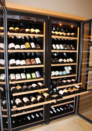 Ein Teil der erlesenen Weinauswahl im Hotel-Restaurant
