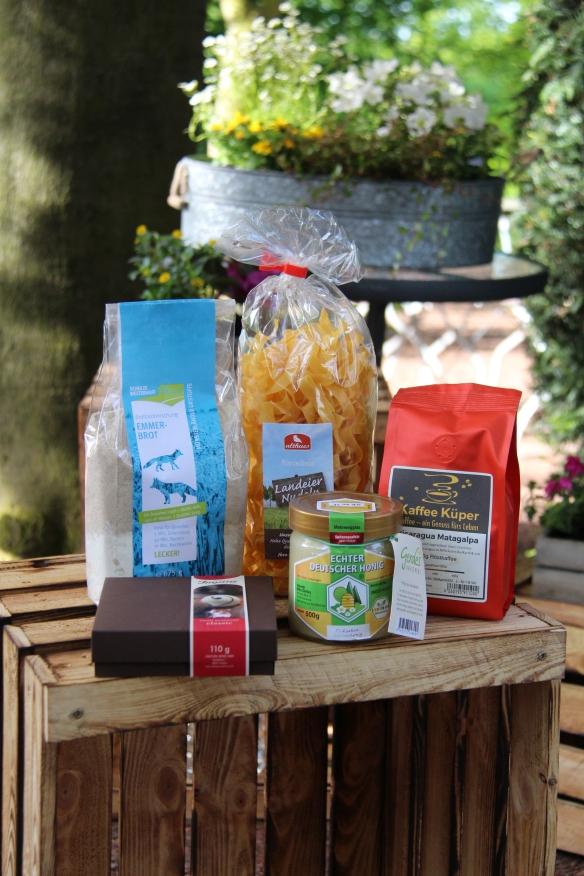Damit die Blogger auch zuhause Münsterland-Siegel-Produkte verwenden können, erhielten sie ein Goodie-Bag.