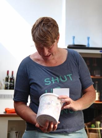 Natasja van't Hoff, Leiterin der Keramikwerkstatt.