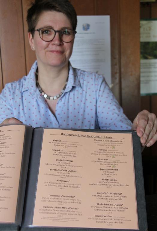 Bei Christiane Nordhaus gibt es eine große Auswahl an Wildgerichten mit dem Münsterland-Siegel.