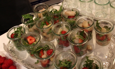 Fantastischer Erdbeer-Spargel-Salat mit Rucola vom Hof Grothues-Potthoff