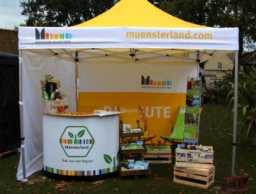 Auch Münsterland-Siegel und Münsterland e.V. hatten auf dieser schönen Regional-Messe einen Stand.