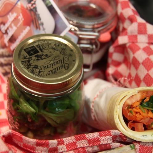 Einen vegetarischen Wrap gab´s in der Kiste von Tanja. Foto: Münsterland e.V.